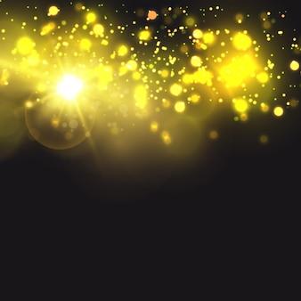 太陽の明るい光透明な太陽光フロントソーラーレンズフレア