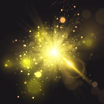 Яркий свет солнца прозрачный солнечный свет передние блики от солнечной линзы