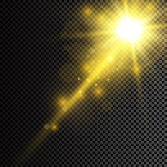 太陽の明るい光透明な太陽光特殊レンズフレアライト効果フロントソーラーレンズ