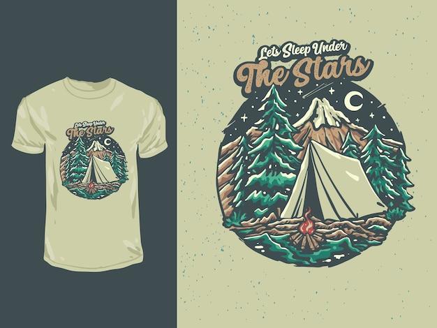 У костра в горах под старинными звездами