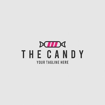 Конфета минималистичный дизайн логотипа вдохновения