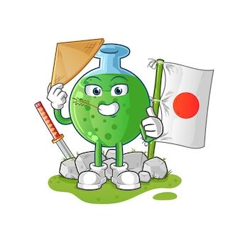 Японский персонаж-талисман из химического стекла
