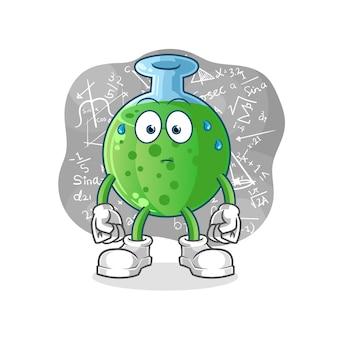 Талисман персонажа из химического стекла