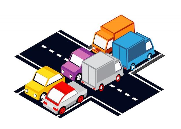 Городские перекрестки, пробки