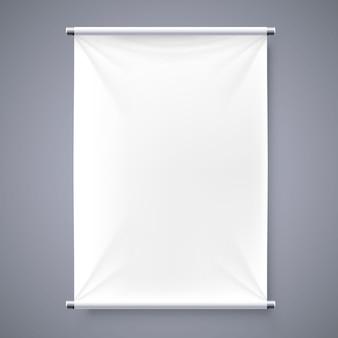 布バナー看板分離背景。ベクトルイラスト