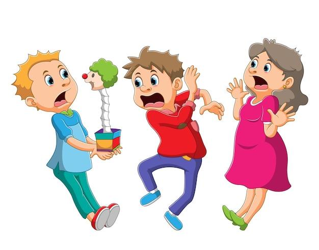 Сборник детских шок валета в коробке иллюстраций