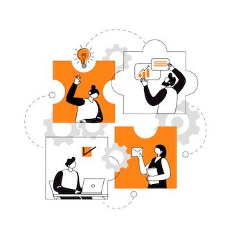 Концепция совместной работы по созданию бизнес-команды