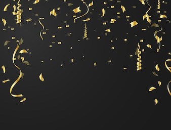 The confetti background is used for celebrations.