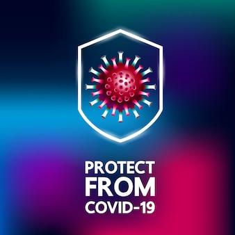 Covid-19ウイルスのイラスト。
