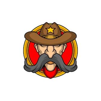 カウボーイのロゴ