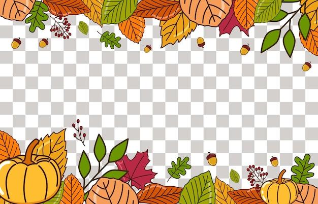 가을과 추수 감사절 축제의 창의적인 컨셉 디자인 축하