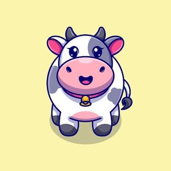 Милая корова смотрит на ваш мультик