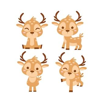 Набор символов милого оленя