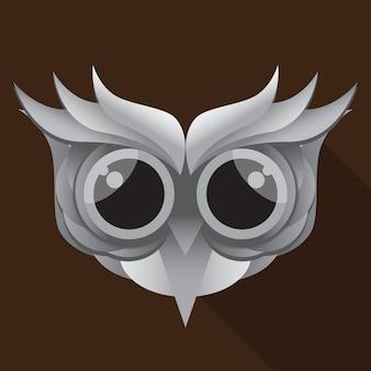 Милый вектор головы совы