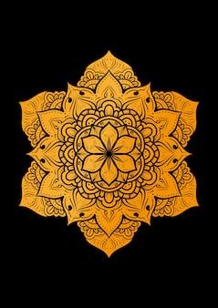 Дизайн фона роскошного орнамента мандалы с простым мотивом