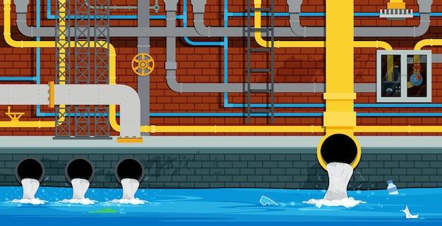배수 및 하수도 시스템은 도시 아래에 있습니다.