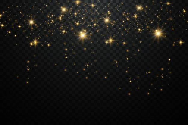 ダストスパークと金色の星が特別な光で輝きます