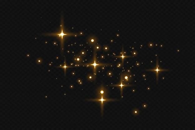 Искры пыли и золотые звезды сияют особым светом