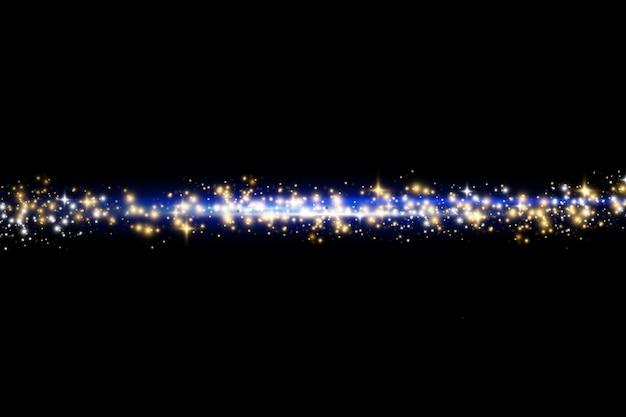 ほこりの火花と金色の星
