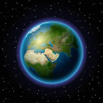 우주 속의 지구