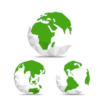 추상 세계 지도와 지구입니다. 인포그래픽 템플릿