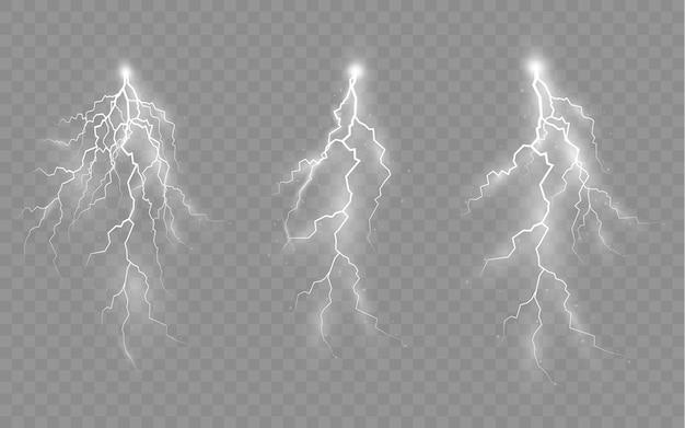 Эффект молнии и молнии комплект молний гроза и молния свет и свет