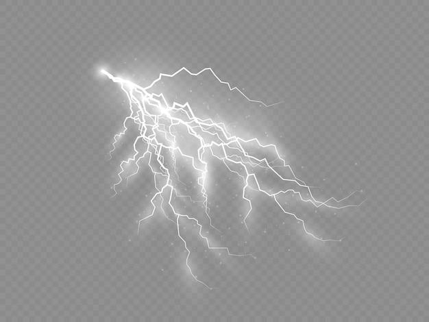 雷と照明、雷雨と雷の影響。