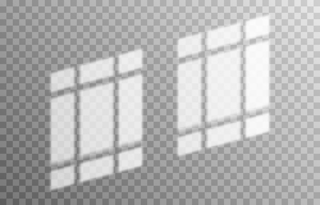 Эффект наложения тени тени от разных типов окон