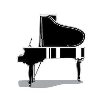 우아한 피아노 그림