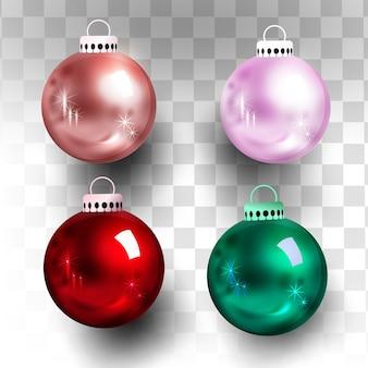 要素クリスマスボールソーシャルメディアポモテ、プロモーション投稿テンプレート。ソーシャルメディアの投稿正方形フレーム