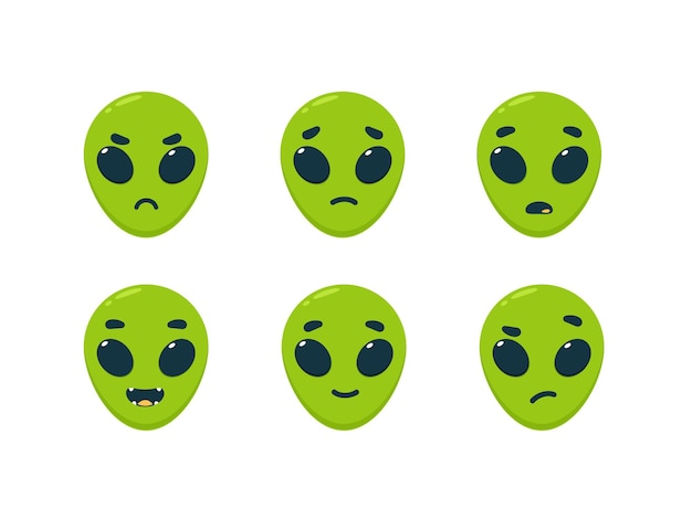 Смайлик зеленого инопланетянина - смайлик обратной связи.