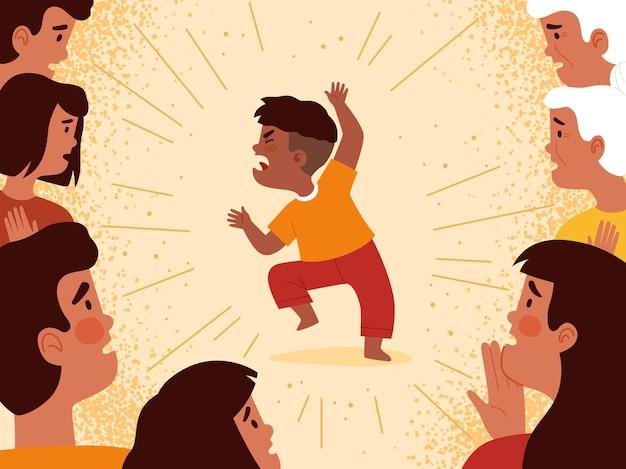 Семья приходит в шок от истерики самого младшего ребенка, который ведет себя агрессивно.
