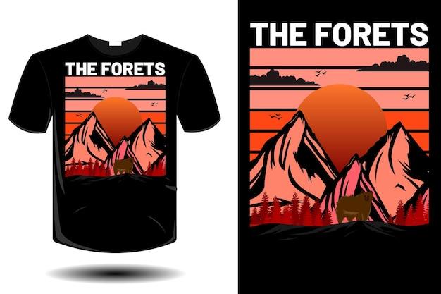 숲 티셔츠 디자인