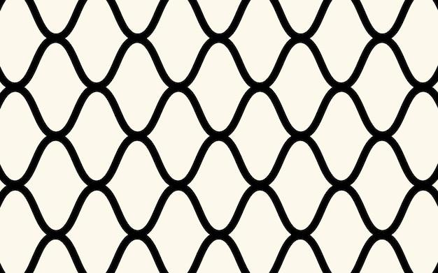 ネットラインのある幾何学模様。シームレスなベクトルの背景。白と黒のテクスチャ。グラフィックのモダンなパターン。シンプルなデザイン