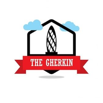 The gherkin, silhouette