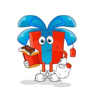 贈り物はチョコレートを食べる。漫画