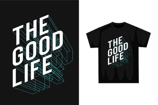 良い人生-タイポグラフィ