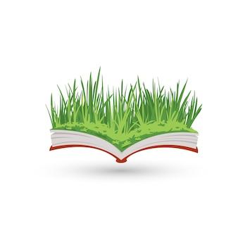 本の中で芝生の庭