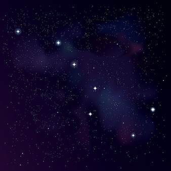 큰곰 별자리. 북두칠성 별자리와 스타 배경입니다. 별이 빛나는 벽지. 프로젝트의 ursa 주요 별자리 그림.