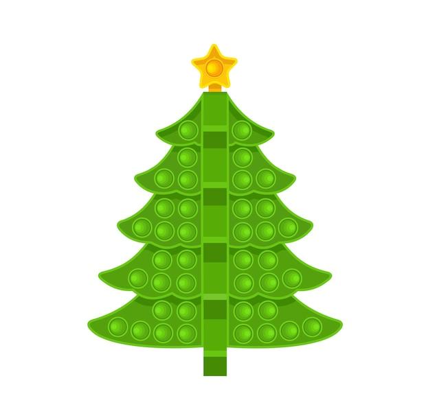 녹색 나무는 항 스트레스 장난감입니다 벡터 일러스트 레이 션