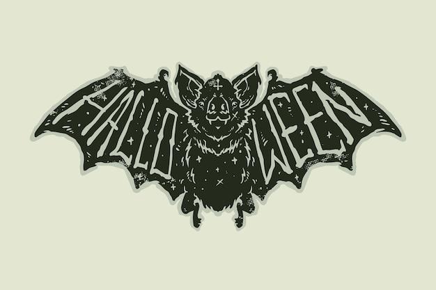 Дизайн стикера татуировки старой школы хэллоуина