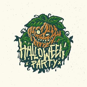 Иллюстрация стикера страшного персонажа хэллоуина