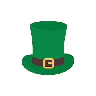 帽子はシルクハットです。聖パトリックの日の休日の属性。