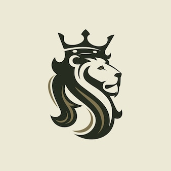왕관과 함께 사자의 머리