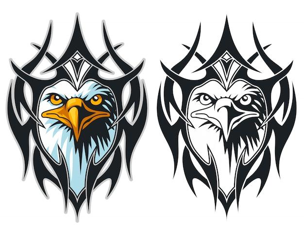 Голова орла с эмблемой эмблемы тату-татуировки