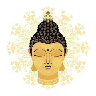 Голова статуи будды.