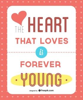 사랑하는 마음은 영원히 젊은 카드