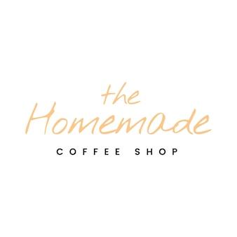 집에서 만든 커피 숍 로고 벡터