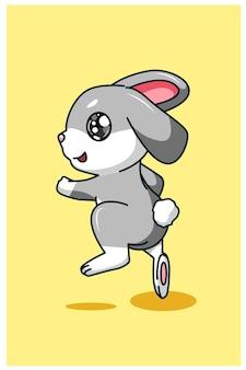 Иллюстрация прыгающего кролика