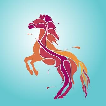 馬のはねのシルエット